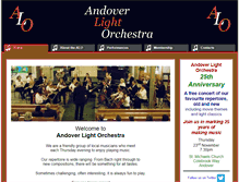 Tablet Preview of andoverlightorchestra.co.uk